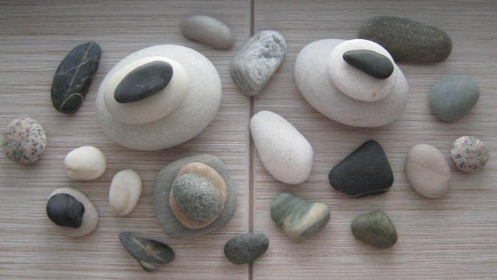 камни на подоконнике