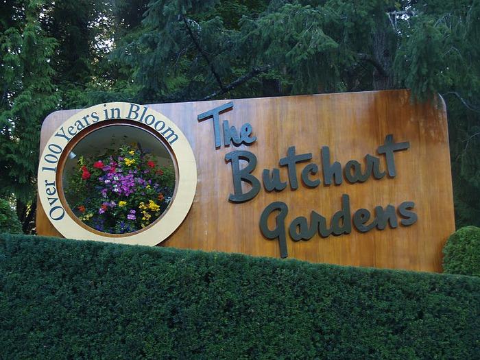 Сады Бучартов на острове Ванкувер. The Butchart Gardens. 34394