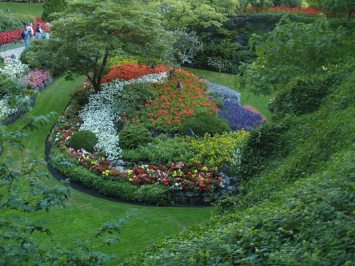 Сады Бучартов на острове Ванкувер. The Butchart Gardens. 76795