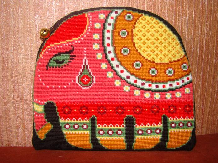 схема вышивки слона - Самое