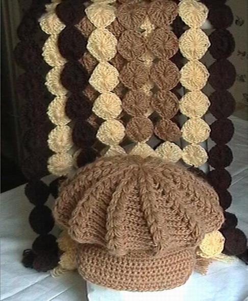 вязание крючок кепка
