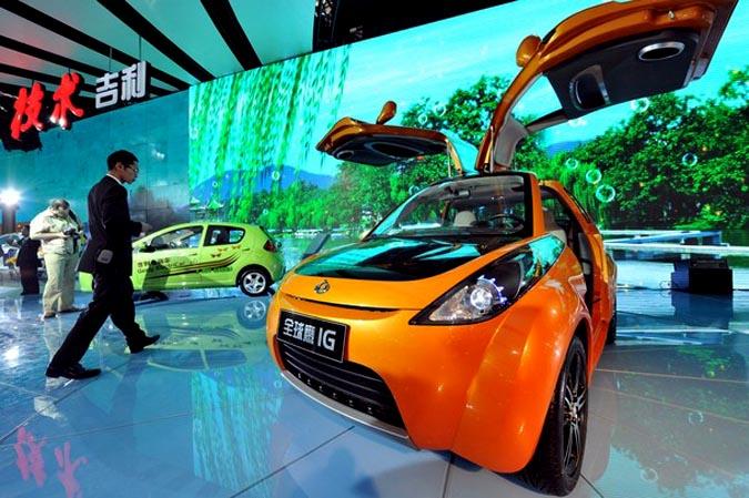 Пекинский автосалон, Китай, 23 апреля 2010 года.