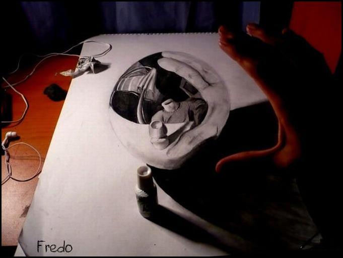 3d рисунок | Обман зрения