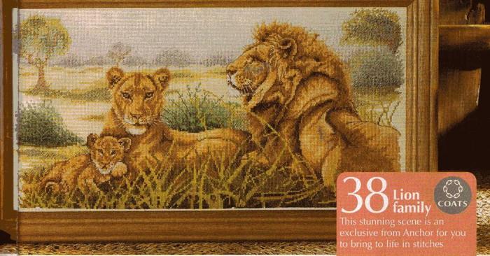 Львиное семейство - ВЫШИВКА