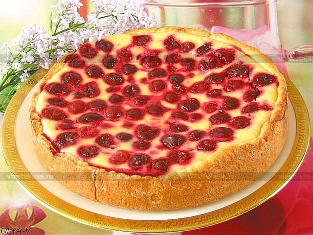 Рецепт пирога СМЕТАННИК С ЯГОДАМИ
