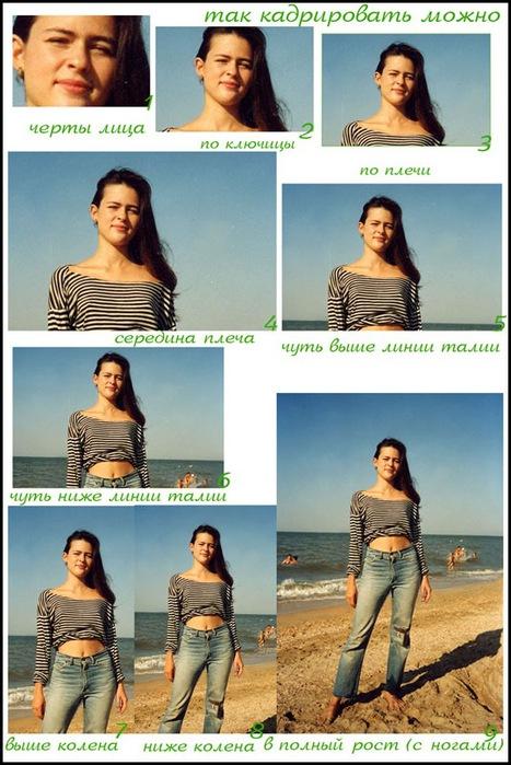 Кадрирование при портретной съёмке