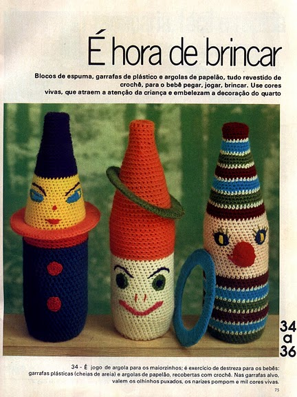 clothes bottle: crochet ideas