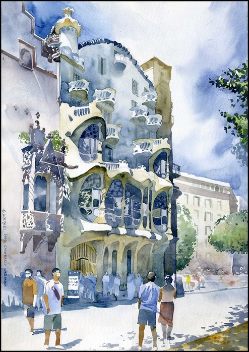 Акварели польского художника Grzegorz Wrobel