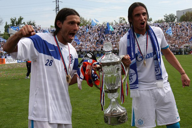 'Зенит' стал обладателем Кубка России по футболу, стадион Олимп-2, Ростов-на-Дону, 16 мая 2010 года.