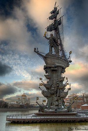 300px-Памятник_Петру_I_(Москва)_ru (300x445, 29 Kb)