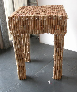 recycle ideas: cork furniture by gabriel wiese