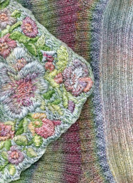 Часть 2 - вышивка по трикотажу