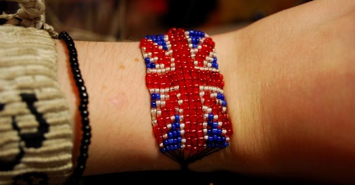 британский флаг из бисера схема