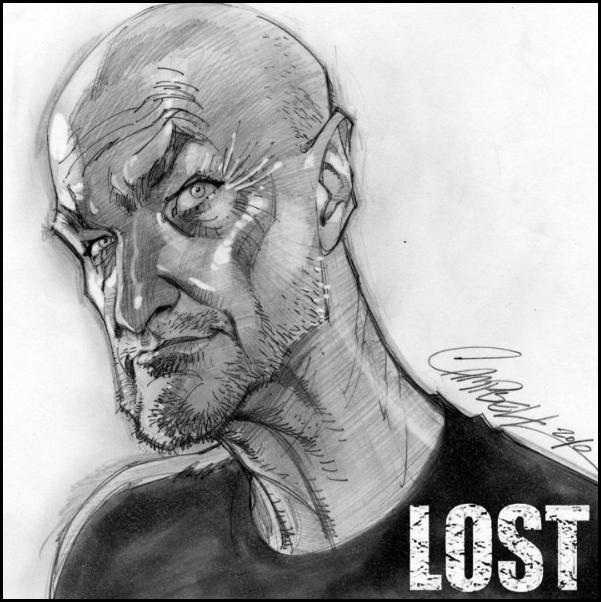 Карикатуры на героев сериала LOST от Скота Кэмпбелла (J. Scott Campbell)