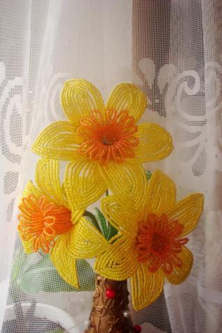 фото цветов из бисера:
