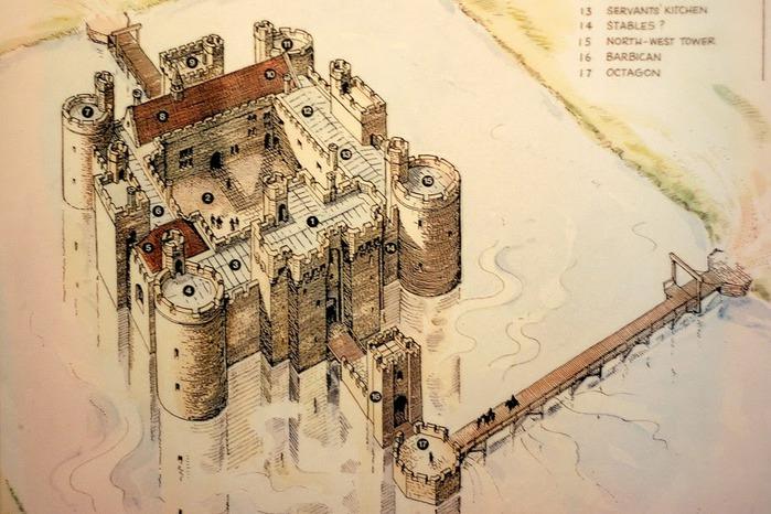 Замок Бодиам (Bodiam) - Графство Сассекс 16516