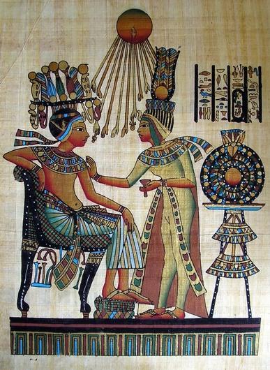 (Эхнатон и Нефертити )