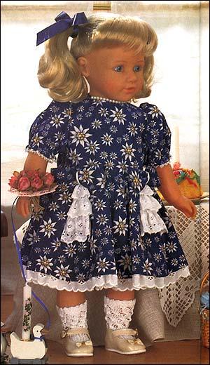 Выкройка платья для куклы 55 см