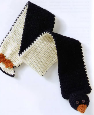 funny scarf – penguin