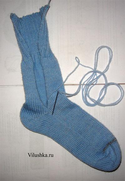 как связать носки на вязальной