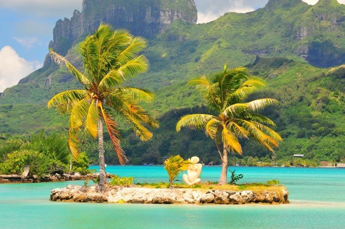 Остров Бора-Бора - жемчужина Тихого океана с перламутровой лагуной 74834