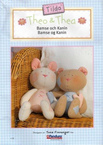 Примитивные игрушки с выкройками. 61207583_1278393555_Bamse_och_kanin_0