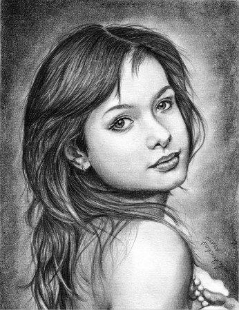 рисунки карандашом девушек фэнтези: