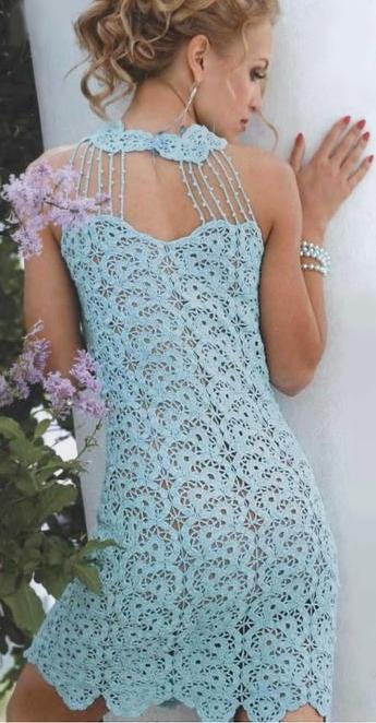 Ажурное платье из кружевных
