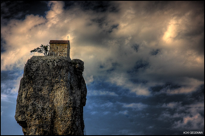 с. Кацхи, Чиатурский р-н Грузии, церковь на столпе