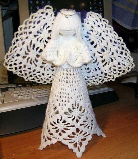 Схема вязания крючком ангелочков
