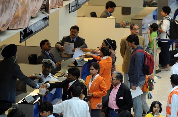 Международный аэропорт в Нью-Дели, Индия, 14 июля 2010 года.