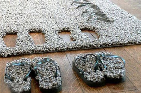 carpet slippers.