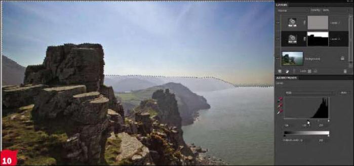 Урок Фотошоп - Как убрать туман на фото-пейзаже