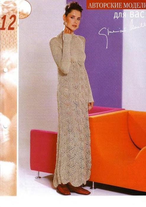 Описания вязания платьев для