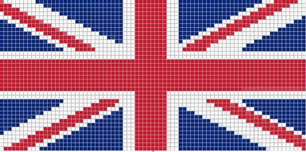Схема вышивки британского флага