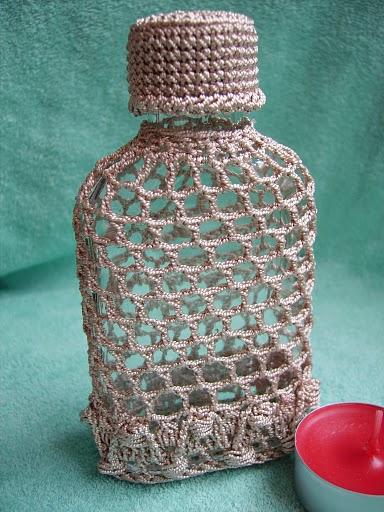 Дизайн бутылок-вязание КРЮЧКОМ
