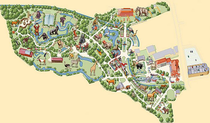 Зоологический сад в Лейпциге (Zoologischer Garten, Leipzig ) 42735