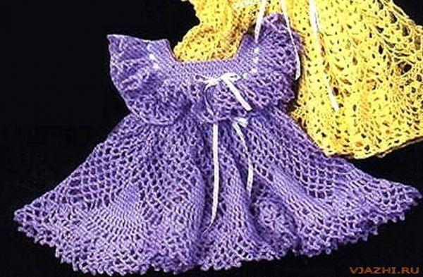 Платья крючком для девочек