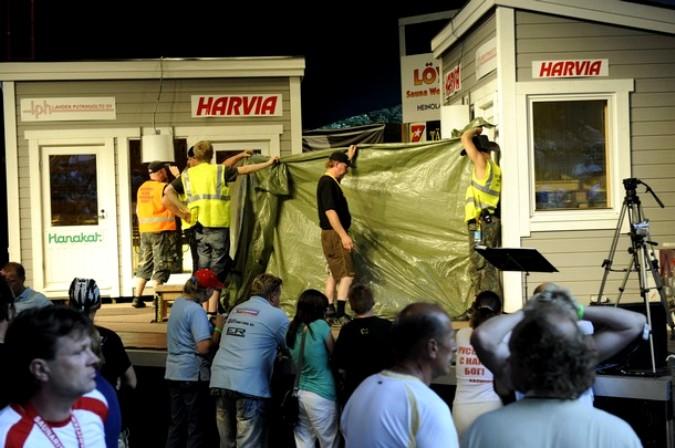 Владимир Ладыженский сгорел во время чемпионата мира по сауне в Хейнола, Финляндия, 7 августа 2010 года.