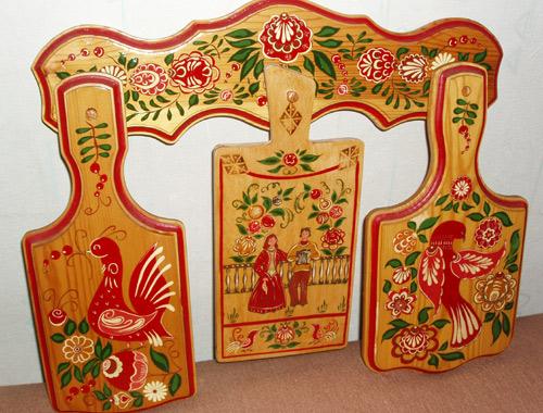 Изделия с роспись по дереву