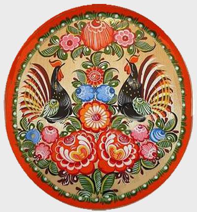 городецкой росписи