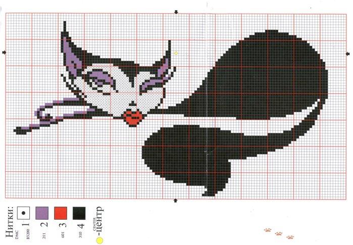 Схемы вышивки гламурной кошки