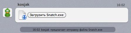 Вирус Snatch.exe в аське