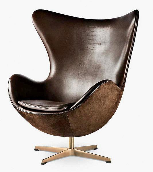 Кресло «Яйцо» в подарочной комплектации кожа, нубук, бронза (533x600, 46 Kb)