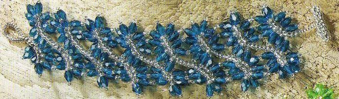 схема плетения крупного
