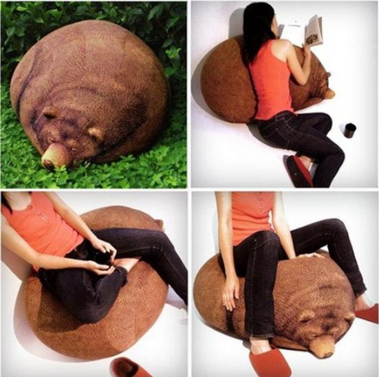 Медведь-подушка
