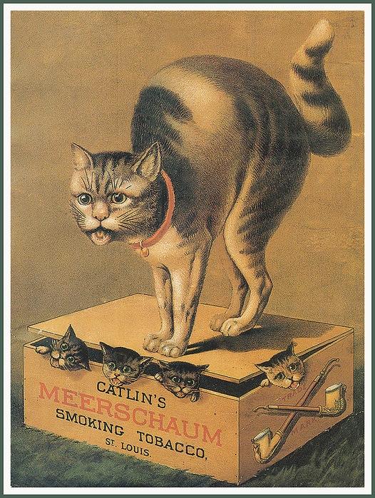 Винтажные открытки с котами 3
