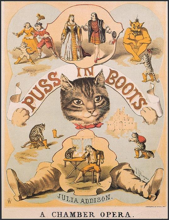 Винтажные открытки с котами 17