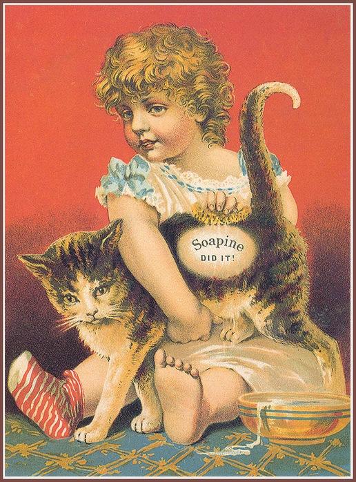 Винтажные открытки с котами 18