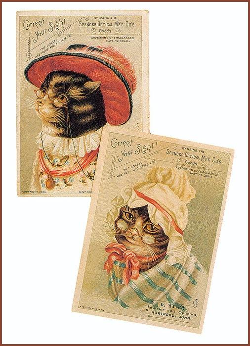 Винтажные открытки с котами 19